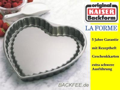 herzform obstkuchenform 30 cm kaiser la forme backform. Black Bedroom Furniture Sets. Home Design Ideas