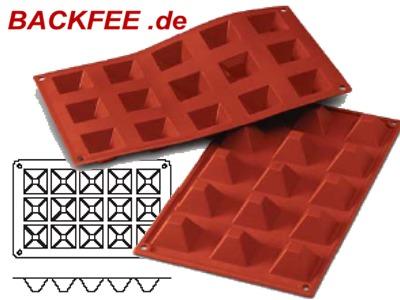 profi motiv muffins pyramiden klein 15 teilig silikonbackform. Black Bedroom Furniture Sets. Home Design Ideas
