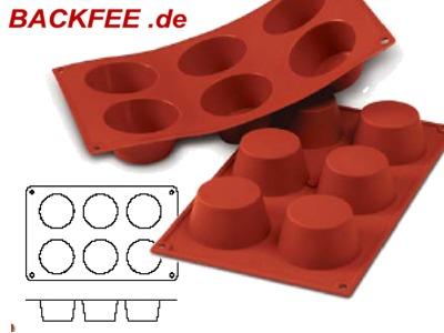 profi muffinform aus silikon 6 teilig. Black Bedroom Furniture Sets. Home Design Ideas