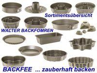 Backformen  Übersicht WALTER Backformen - Backfee.de