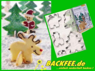 stehkekse ausstecher set 4 weihnachtsmotive incl. Black Bedroom Furniture Sets. Home Design Ideas